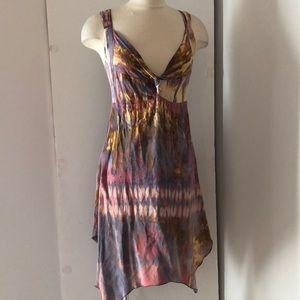 Good Day silky tie dye summer dress